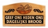 Productafbeelding Wandbord hout 35x19.5cm geef ons heden