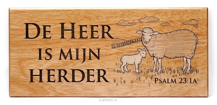 Grote afbeelding Wandbord psalm 23a 22x10cm